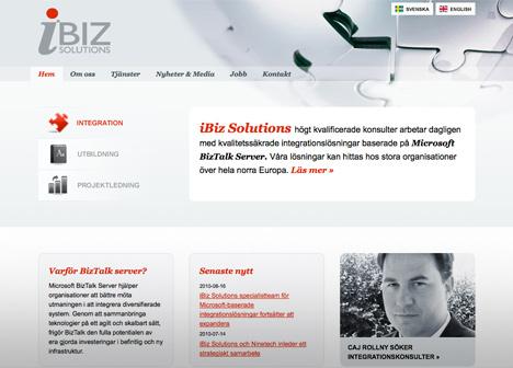 iBiz Solutions hemsida
